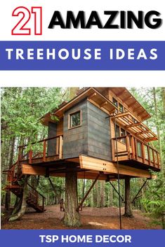 The treehouse seriously will be the favorite spot for your whole family. So, these are some of the best examples which range from simple to complex. Treehouse Ideas, Tree House Designs, Backyard For Kids, Build Your Own, Range, Cabin, House Styles, Simple, Amazing