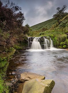 Fairbrook waterfall in Peak District, Derbyshire, England England, Autumn Nature, Peak District, Nature Pictures, Landscape Pictures, Places Of Interest, English Countryside, Derbyshire, Natural Wonders