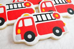 SweetTweets - Fire Engine Cookies  - 1 dozen