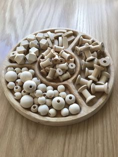 Loose parts Wooden Beads