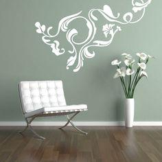 Naklejka - Wzór roślinny | Decorative sticker - Vegetal pattern | 23,99 PLN #wall_decal #sticker #vegetal #pattern #home_decor #interior_decor