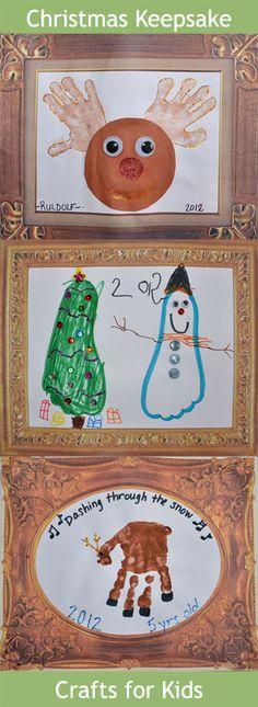Gummy Lump Toys Blog: Christmas Handprint & Footprint #Crafts for #Kids