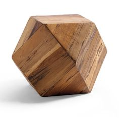 Geo Wooden Side Table