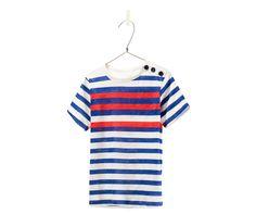 t-shirt à rayures bicolore - 9E