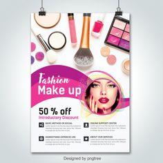 Make up Cosmetic Flyer Template Makeup Poster, Makeup Ads, Free Makeup, Creative Poster Design, Creative Flyers, Advertising Flyers, Free Psd Flyer Templates, Cosmetic Shop, Graphic Design Services