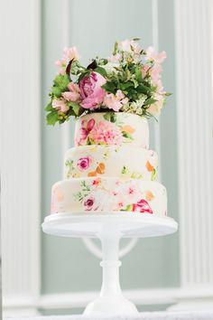 Wedding Cake by Nevie Pie Cakes   100 Layer Cake