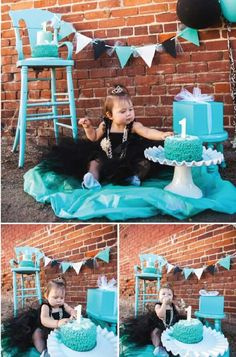 breakfast at tiffany's cake smash | Top 10 Cake Smash Photo Ideas - You won't see this list on BuzzFeed! # ...