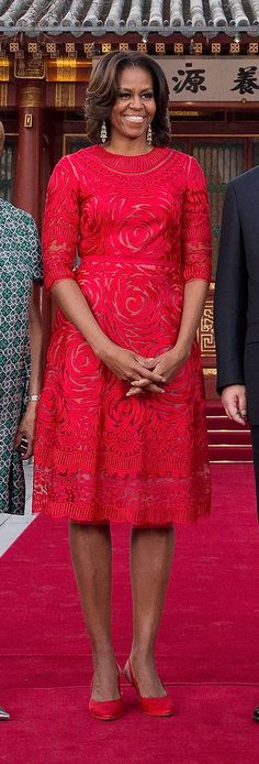Michelle Obama in Naeem Khan — Five Stars — Vogue.com