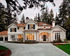 Dream House Exterior, Dream House Plans, House Ideas Exterior, Luxury Homes Exterior, Barn House Plans, House Exteriors, Dream Home Design, My Dream Home, Copper Roof