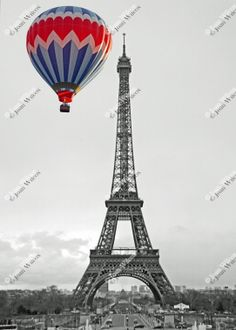 Color Splash Black & White or Sepia Eiffel Tower Hot by JWPhoto, $15.00