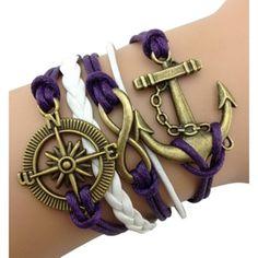 Purple Sailor Arm Party Bracelet - $13.00