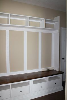 DIY mudroom.  prob good info here (IKEA modified)