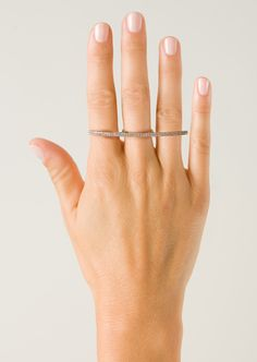 Elise Dray Rings :: Elise Dray black gold and grey diamonds River ring | Montaigne Market