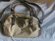 Vintage Handtasche mit beige/braun von MajaSt auf DaWanda.com