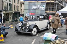 A Beautiful Rolls Royce visited us. Vintage of course. Hay-on-Wye 1st December, Rolls Royce, Antique Cars, Vintage, Beautiful, Vintage Cars