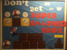 Alcohol poisoning awareness and what to do bulletin board super smashed bros