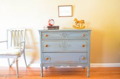 SALE  Vintage dresser Hand Painted Grey WAS 550 by AGBStudio, $475.00