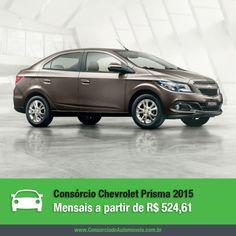 Confira as novidades da nova linha 2015 do Chevrolet Prisma! Acesse nossa matéria e veja como é fácil comprá-lo pelo consórcio: https://www.consorciodeautomoveis.com.br/noticias/chevrolet-prisma-2015-a-partir-de-r-524-61-mensais?idcampanha=206&utm_source=Pinterest&utm_medium=Perfil&utm_campaign=redessociais