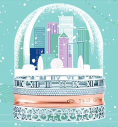 Tiffany OFF! How will you stack up this holiday season? Bangles from top: Atlas® narrow in sterling silver; Tiffany Metro in white gold with round brilliant diamonds; in RUBEDO® metal; Tiffany Enchant® narrow in sterling silver. Tiffany And Co, Tiffany Blue, Holiday Gift Guide, Holiday Gifts, Christmas Gifts, Xmas, Valentino Rockstud, Blue Box, Fancy Pants