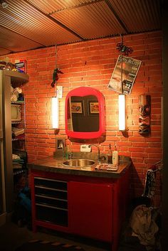 Beautiful Harley Davidson Themed Theater. A Real Manu0027s Bathroom