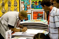 Artist Alley Booths: 7 Awesome Tips to Take the & Out of . Comic Conventions, Artist Alley, San Diego Comic Con, Selling Art, Diy Arts And Crafts, A Comics, Craft Fairs, Literature, Comic Books