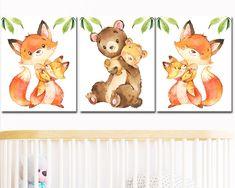 Owl Themed Nursery, Baby Boy Nursery Decor, Nursery Sets, Art Sets For Kids, Nursery Artwork, Vinyl Sticker Paper, Pink Brown, Pink Yellow, Baby Wall Art