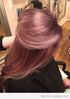 Oh I wish I could get the courage to dye my hair for the first time! Are you looking for rose gold hair color hairstyles? See our collection full of rose gold hair color hairstyles and get inspired! Cabelo Rose Gold, Hair Color And Cut, Dusty Rose Hair Color, New Hair Colors, Hair Day, Gorgeous Hair, Pretty Hairstyles, Latest Hairstyles, Bride Hairstyles