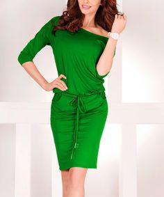 Look what I found on #zulily! Green Drop-Waist Dress #zulilyfinds