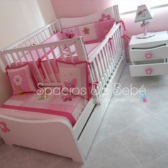 Baby Bedroom, Baby Room Decor, Nursery Room, Girls Bedroom, Bedroom Decor, Bed Rails For Toddlers, Baby Changing Tables, Baby Room Design, Childrens Beds