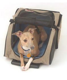 Loving this Khaki Wheeled Pet Carrier on #zulily! #zulilyfinds. Med $79.99. Large $84.99 reg $120/$130