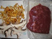 Blog Pepato.eu: Flat Iron steak, s liškami a žampiony Portobello