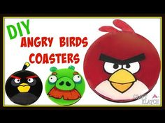 Angry Birds Coaster DIY ~ Another Coaster Friday ~ Craft Klatch How To - YouTube