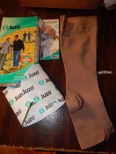 Juzo Compression Stockings Varin Soft Below Knee Short 5CM Silicone Border 30-40 #Juzo