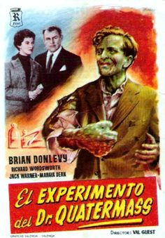 With Brian Donlevy, Jack Warner, Margia Dean, Thora Hird. Professor Bernard Quatermass' manned rocket ship returns to Earth, but two of the astronauts are missing and the survivor seems ill and unable to communicate.