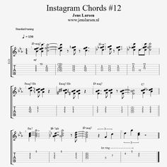 Here's the transcription of the video I posted yesterday! ☺  One of my favourite standards and I really like what you can do with a simple sus4 triad!  Hope you can use it!  #guitar #jazzguitar # #jenslarsen #axefx #ibanez #instagramchords #triads #sus4
