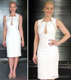 Look do dia: Vestido tubinho branco | http://modaefeminices.com.br/2014/01/25/look-do-dia-vestido-tubinho-branco/