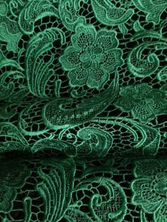 Emerald Lace Fabric