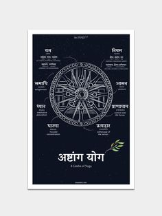 Ashtanga Yoga Poster – ReSanskrit – Buy Now - Yoga Fitness Ideas Vedic Mantras, Hindu Mantras, Ashtanga Yoga, Vinyasa Yoga, Sanskrit Mantra, Sanskrit Quotes, Sanskrit Tattoo, Hindi Quotes, Art Quotes