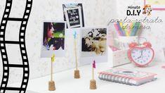 DIY - Faça você mesma Porta-retrato de mesa. DIY Decor fácil, rápido e barato para decorar seu quarto. (Por: Carla Sant'Anna, blog Burguesinhas)