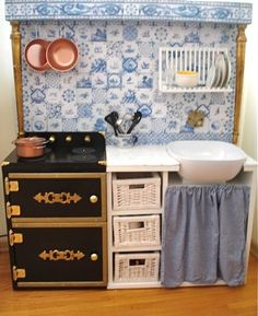 SUPER CUTE!  IKEA Hackers: Monet-at-Giverny Play Kitchen