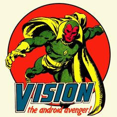 Vision Marvel Comics t shirt The Avengers Thor Captain America Hulk graphic tee #Marvel #GraphicTee