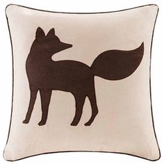 Madison Park Fox Square Throw Pillow (40 AUD) ❤ liked on Polyvore featuring home, home decor, throw pillows, cream throw pillows, fox home decor, beige throw pillows, fox throw pillow and square throw pillows