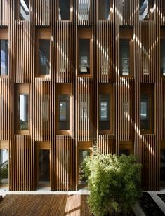 Gallery of Chamartín Real State Offices / Burgos & Garrido arquitectos - 7 Detail Architecture, Timber Architecture, Contemporary Architecture, Chinese Architecture, Architecture Office, Futuristic Architecture, Office Buildings, Commercial Architecture, Facade Design