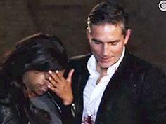 Jim and Taraji after the shooting scene.