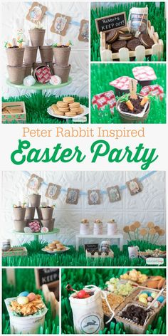 OMG! There are so many cute ideas for Easter in this post. It is Peter Rabbit Inspired Easter Party Ideas...so stinkin cute!