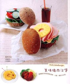 Handmade Delicious Felt Food House craft book in by MeMeCraftwork, $18.00