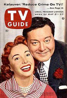 "TV Guide Jackie and Audry Meadows of ""The Honeymooners"" 1950's"