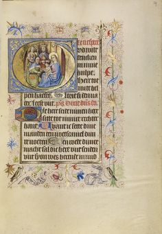 Initial G: The Adoration of the Magi; Unknown; Brabant (possibly), Flanders, Belgium; after 1460; Tempera colors, gold leaf, and ink on parchment; Leaf: 17.1 x 12.2 cm (6 3/4 x 4 13/16 in.); Ms. Ludwig IX 9, fol. 59; J. Paul Getty Museum, Los Angeles, California