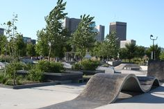inner city skatepark - Google Search Skate Park, Outdoor Furniture, Outdoor Decor, Building Design, Sun Lounger, Indoor, Exterior, Urban, Calgary