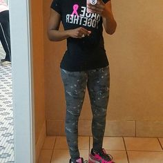 Pink Black and Gray Workout Outfit,  Gray Camo Leggings